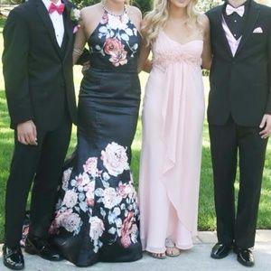 Blush prom dress- dark navy